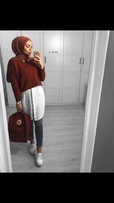 feb5fca8fe Hijab Casual, Hijab Chic, Hijab Outfit, Hajib Fashion, Hashtag Hijab, Muslim