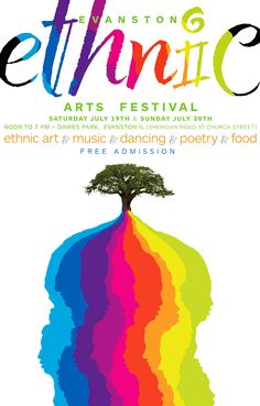 This festival sounds pretty cool in itself, but I found this poster nice because the type is colorful, easy to read and exciting and it plays into the tree, which has the same colorful roots that are actually faces if you look closely. The whole concept of ethnic and festival are portrayed successfully in this poster.
