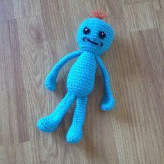 WoollyRhinoCrafts: Mr. Meeseeks - Rick and Morty Plush - Free Crochet Pattern