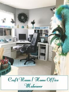 Organizing My Craft Room / Home Office Makeover