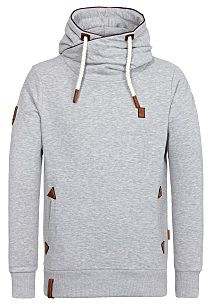 naketano Schwanzus Longus II - Hooded Sweatshirt for Men - Grey