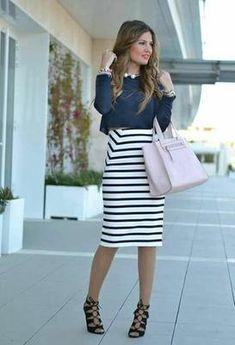 Outfits para la oficina con falda