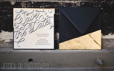 Hand lettered letterpress wedding invitation for the NotWedding 2013 by And Here We Are