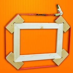 """When gluing up 90 degree corners, or whole picture frames, using a """"Tie-Down"""" that is long enough to wrap around the whole frame can work wonders. Using some 90 degree angle pieces, wrap the tie-down around the whole frame *be sure to take a moment to align the corners before you tighten up* and you will end up with a well-clamped frame that just needs to wait for the glue to dry. #woodworking #wood"""