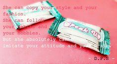 Copycat... please be yourself
