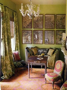 sitting room by hal williamson . Try to escape it, but this is my style. not so good in a small house though. photo by house beautiful .