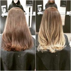 Balayage ombré, brunette to blonde