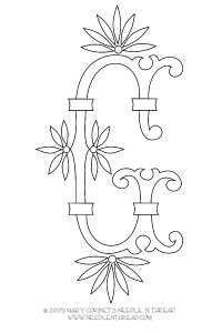 Free Monogram for Hand Embroidery: Letter G