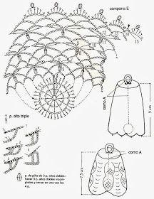 tejidos artesanales en crochet: delicadezas en crochet (accesorios) 6 Crochet Lamp, Thread Crochet, Christmas Crafts, Christmas Decorations, Crochet Ornaments, Crochet Diagram, Snowflakes, Stitch, Knitting