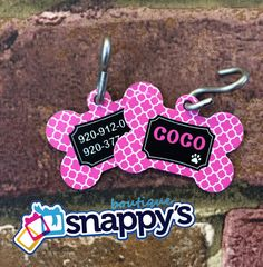 New DOUBLE SIDED Personalized Dog Tag - Custom Made with your Pets Name w/phone number on Etsy, $12.00