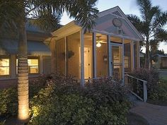 Night view, Palm Cottage, #Gulfport, Florida