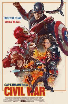 Captain America Civil War Retro Fanmade Poster by punmagneto.deviantart.com on @DeviantArt