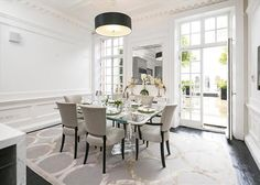 Stylish period house in Mayfair London, on the market Home And Garden, Dining Table, Real Estate, London, Bedroom, Stylish, House, Furniture, Period