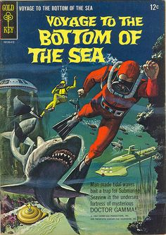 "Voyage To The Bottom Of The Sea Comic Book ... Note to Journal: ""breath less ~ swim faster!"""