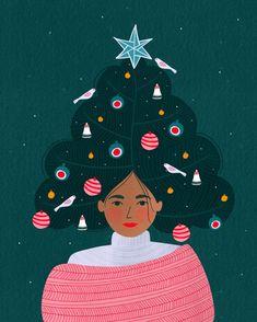 Bea Muller (@soleyandthebear) • Instagram photos and videos Holiday Themes, Holiday Decor, Christmas Illustration, Tis The Season, Reindeer, Mid-century Modern, Mid Century, Seasons, Photo And Video