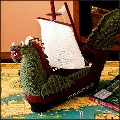DragonShip - Architectural Crochet