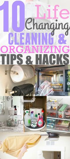 These 10 cleaning and organizing hacks are GENIUS! You have to try them out in your home THIS SPRING! Pinning for later