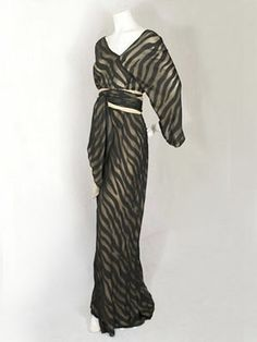 Halston chiffon jumpsuit, mid 1970s Halston! You could not find a Halston that I would not love!