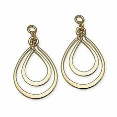 14kt Yellow Gold Open Pear-Shaped Earring Jackets Ross-Simons. $131.25