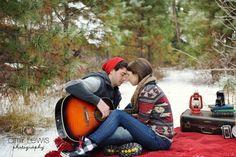Winter Engagement photos, Snow Engagement, guitar engagement, amylewisphotography.com Blog, Amy Lewis Photography