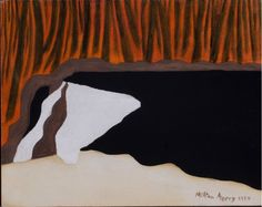 Artwork by Milton Avery, Waterfall, Made of Oil on canvas Artists And Models, Oil On Canvas, Waterfall, Moose Art, American, Artwork, Animals, I Love, Work Of Art