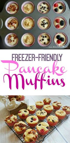 Muffins Recipe Busy mornings made easy with Quaker Real Medleys Granola and Yogurt Blend and a freezer-friendly pancake muffins recipe!Busy mornings made easy with Quaker Real Medleys Granola and Yogurt Blend and a freezer-friendly pancake muffins recipe! Pancake Muffins, Breakfast Muffins, Pancake Bites, Pancakes Easy, Pancakes And Waffles, Make Ahead Freezer Meals, Freezer Cooking, Freezer Friendly Meals, Freezer Burn