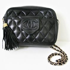 72343349a vintage black CHANEL quilted CAMERA bag by PasseNouveauVintage, $78.00 Vintage  Handbags, Vintage Bags,