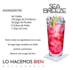 Sea Breeze - Festejá con Estilo! de LO HACEMOS BIEN bartenders Como preparar un Sea Breeze - Recipie How to prepare a Sea Breeze - Party with style!   https://lomejordelaweb.es/