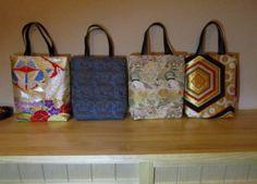 古布の手作り品 着物リメイク藍 Japan Bag, Kimono Fabric, Japanese Kimono, Pouch, Reusable Tote Bags, Nihon, Sewing, Handmade, Fabric Purses