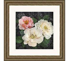 "Heirloom Roses II 23 1/2"" Square Framed Giclee Wall Art   55DowningStreet.com"