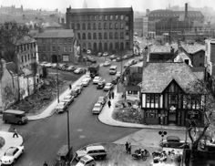 Maid Marian Way in 1959 before the creation of the dual carriageway running uphill to Derby Road and Nottingham Cathedral Nottingham Forest, Nottingham City, Maid Marian, Local History, Family History, Good Old Times, Amazing Buildings, History Photos, London