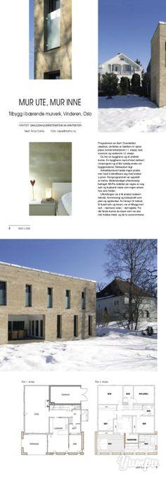 Tilbygg på Vinderen, Oslo - Mur og betong-Tilbygg på Vinderen, Oslo - Mur og betong