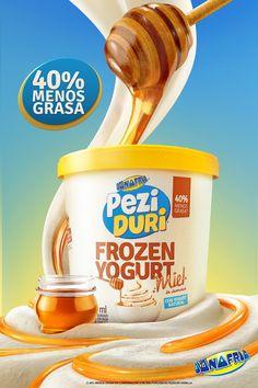 D'Onofrio - Peziduri Frozen Yogurt on Behance Yogurt Packaging, Dairy Packaging, Food Packaging, Packaging Design, Food Poster Design, Menu Design, Label Design, Food Design, Banner Design