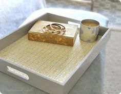 #DIY fabric lined tray