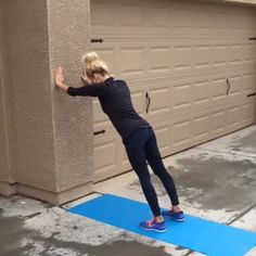 Wall workout  double tap & tag your partner  perform 12 reps each exercise for a total of 4 sets!