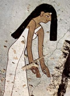 Mourning woman. Tomb of Minnakht.