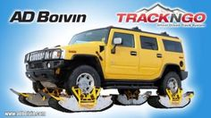 Track N Go - possibly the best idea for a real, simple, non-modified-truck track system yet. Note that at full turn, there isn't a track sticking into the bodywork, and the tracks are directly under the factory wheels - no excess bearing loads with this design.