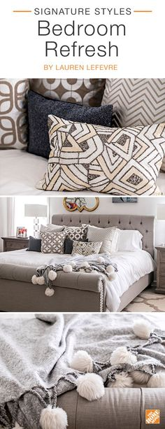 Get the Look Iron Bed Bedrooms King size and Antique pewter