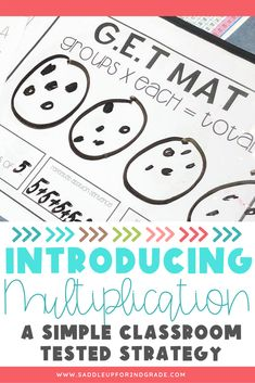 Are you beginning multiplication with your primary learners? Check out this simple strategy for teaching multiplication to your students and grab a free printable too!