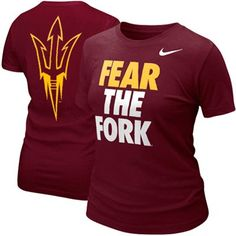 Nike Arizona State Sun Devils Ladies Campus Roar T-shirt - Maroon...most def want this for Christmas!!