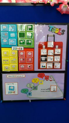 Zones of regulation tool Tap the link to check out fidgets and sensory toys! Emotional Support Classroom, Social Emotional Learning, Classroom Behavior, Special Education Classroom, Autism Classroom, Emotions Activities, Counseling Activities, Emotional Regulation, Self Regulation
