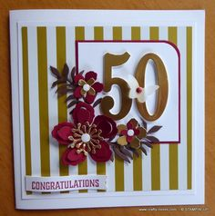 It was a beautiful, crisp sunny day when I created a 50th Wedding Anniversary card for my Aunt and Uncle who celebrated over the ...