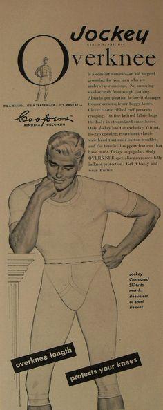1950s Jockey Boxer Briefs Midway Men s Underwear Vintage Advertisement  Illustration Y Front Overknee 1150eb37f5352