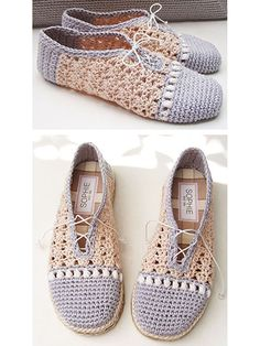 Pearl Slippers Crochet Pattern