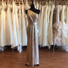 One shouldered gold sequin bridesmaids dress   Size 14 (Runs Small) Gold Bridesmaids, Sequin Bridesmaid Dresses, Sequin Dress, Prom Dresses, Formal Dresses, Size 14 Dresses, Fashion Dresses, Sequins, Bridal