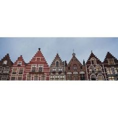 Low angle view of buildings Bruges Belgium Canvas Art - Panoramic Images (36 x 13)