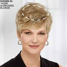 Delicate Touch Wiglet Hair Piece by Paula Young® – diy hairstyles shorthair Short Straight Hair, Short Curly Hair, Curly Hair Styles, Wig Styles, Flower Girl Hairstyles, Crown Hairstyles, Hairstyle Ideas, Wedding Hairstyles, Corte Pixie