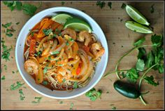 Spicy Thai Shrimp Bowls by Prevention RD