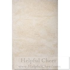 Solid Pattern Ivory Polyester Shag Rug 2 x27 x3 x27 Shop Black Friday Doorbusters Now Thousands o