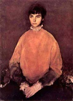 Corneliu Baba Romania) - Portrait of a girl Modern Art, Contemporary Art, Classic Paintings, Post Impressionism, Art Database, Realism Art, Traditional Art, Art Inspo, Art Gallery